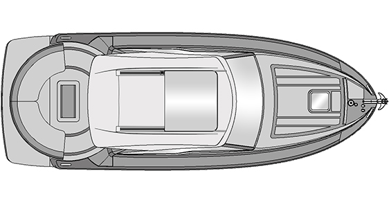 Plano Rodman Spirit 31 Hard Top Inboard - Planta exterior escotilla eléctrica