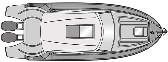 Plano Rodman Spirit 31 Hard Top Outboard - Planta 1