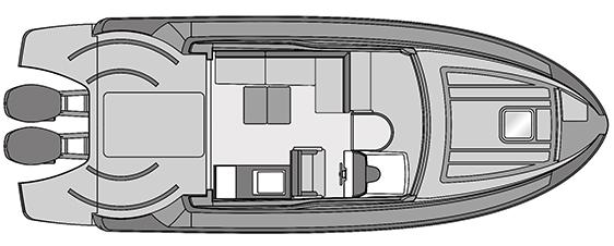 Plano Rodman Spirit 31 Hard Top Outboard - Planta 2
