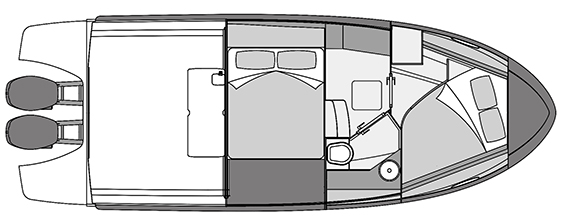Plano Rodman Spirit 31 Hard Top Outboard - Planta 3
