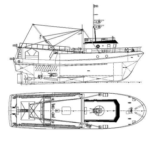 Planos Rodman 100 Barco de pesca profesional