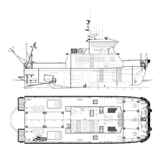 Planos Rodman 65 Barco de pesca profesional